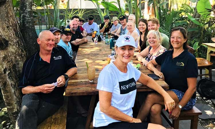 Traders Retreat Socialising Eating Lunch